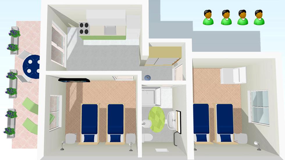 Familien Wohnung Layout