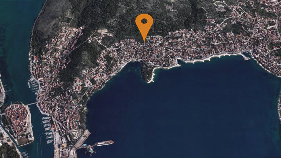Trogir Karte Ansicht