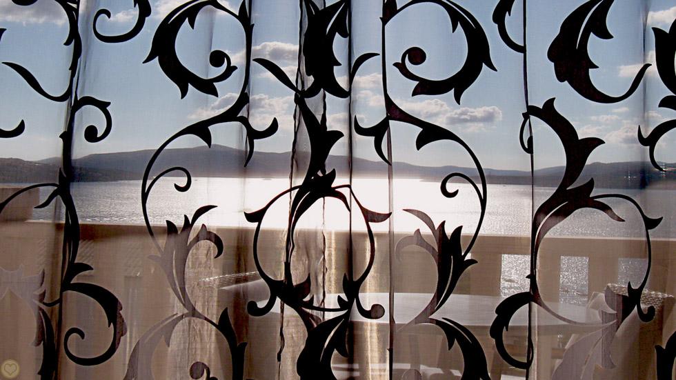 Through Curtain View