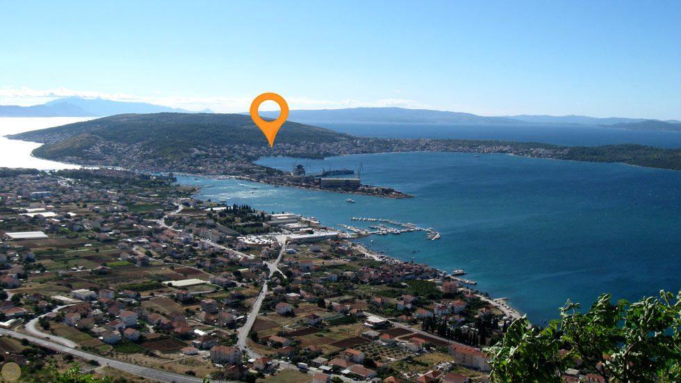 Trogir Riviera Karte